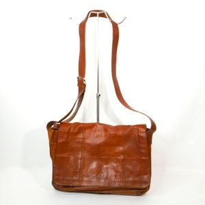 Cole Haan Wayland Brown Leather Messenger Bag